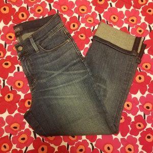 NYDJ Dayla Wide Cuff Capri Jeans (Lift X Tuck)